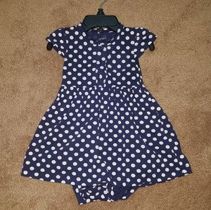 Blue polkadot dress